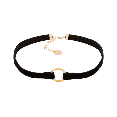 taudrey velvet personalized clueless choker coal black