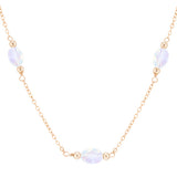 taudrey full moon dainty gold necklace opal accents