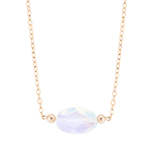 taudrey luna necklace opal on gold chain