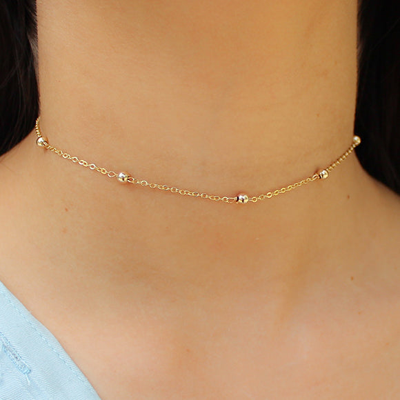 taudrey dainty meant to bead choker gold beads