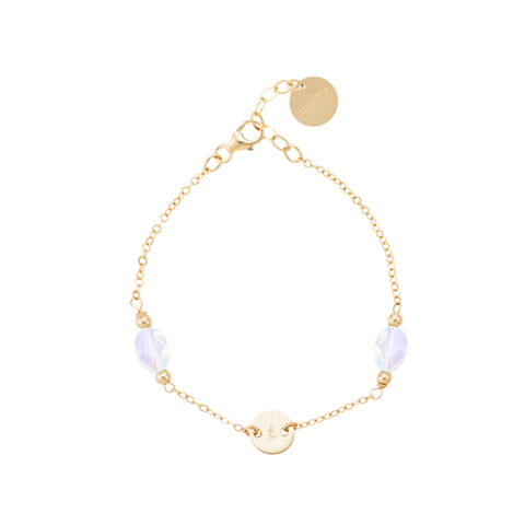 taudrey orbit bracelet opals and small personalized charm