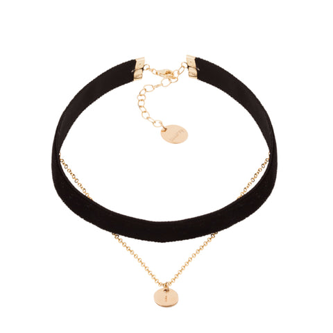 taudrey personalized jewelry whatever choker velvet layered gold charm black