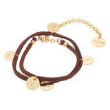 taudrey persuede wrap bracelet with stamped gold charms