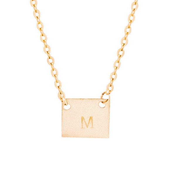 Taudrey Petite Square Necklace