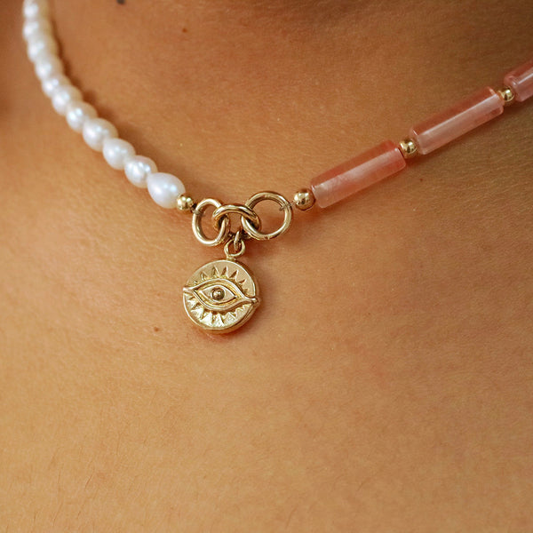 taudrey pink about it choker breast cancer awareness