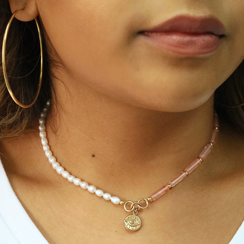 taudrey pink about it choker bca piece