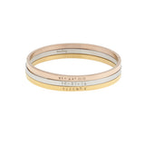 taudrey pretty please bangle stack gold rose gold silver