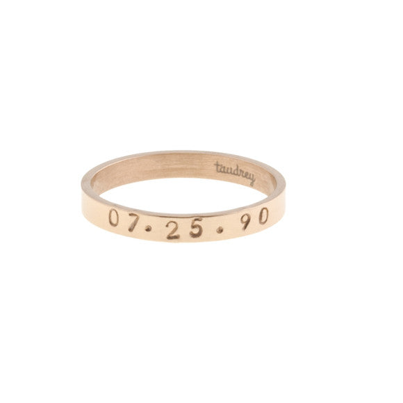 taudrey ready to mingle rose gold single personalized ring band