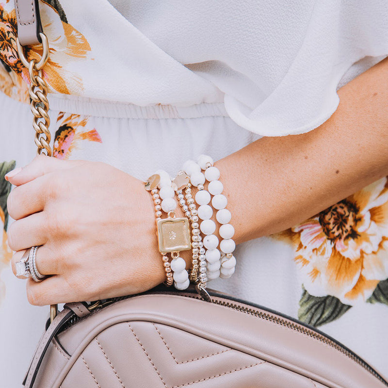 taudrey sabby beaded bracelet set personalized bracelet stack sabby style blog blogger collection piece