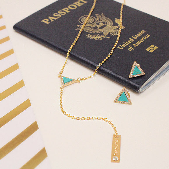 taudrey sail away with me turquoise necklace and earrings