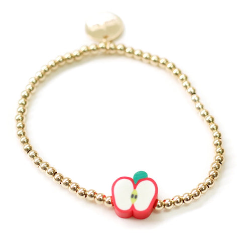 taudrey school hero bracelet gold beads apple red