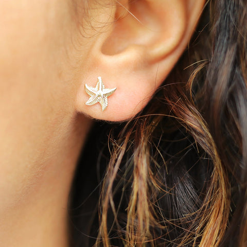 taudrey sea clearly starfish gold filled earrings