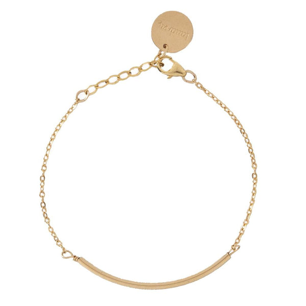taudrey set the bar bracelet gold chain gold bar