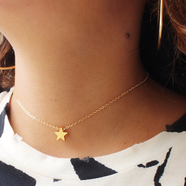 taudrey shine your light choker necklace with personalized gold star