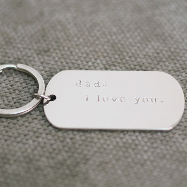 taudrey stainless steel silver personalized key chain
