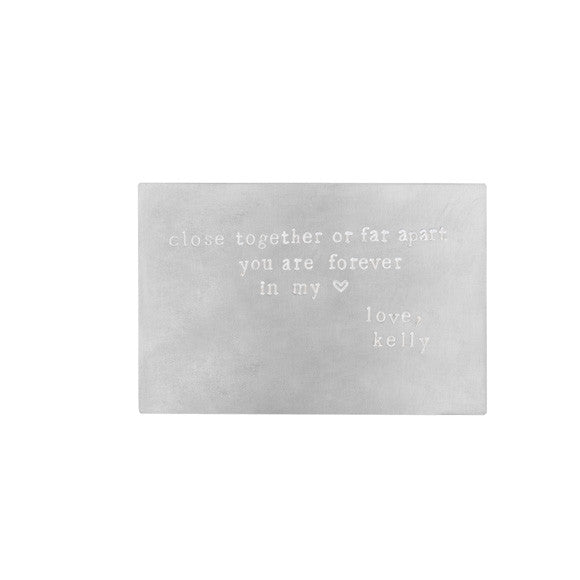 taudrey silver wallet keepsake love partner