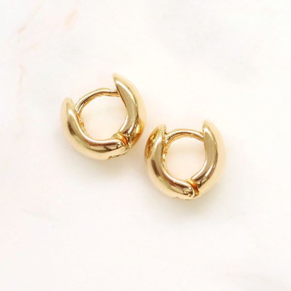 taudrey small huggies gold huggies earrings
