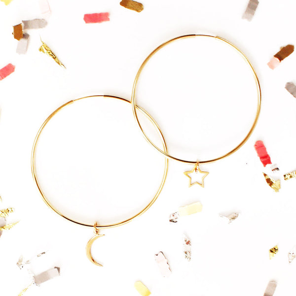 Space Cadet Hoop Earrings