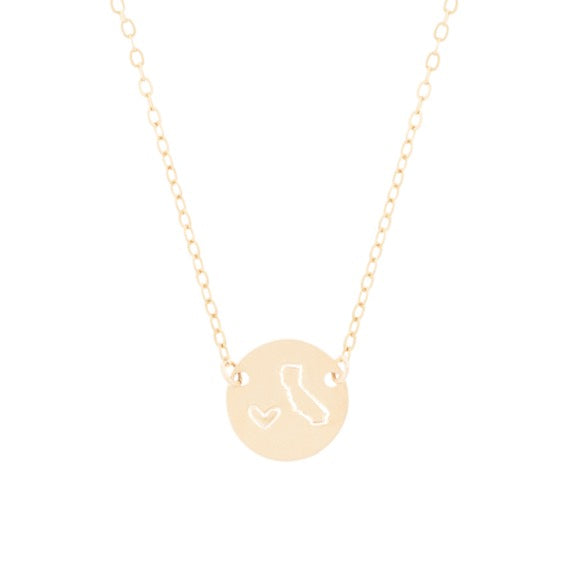taudrey state mini coin personalized gold necklace california state shape