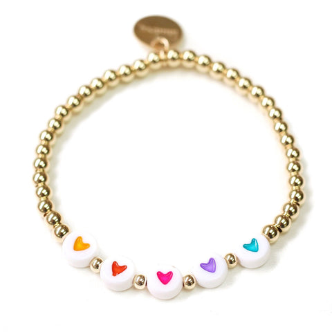 taudrey state of the heart gold beaded bracelet heart details
