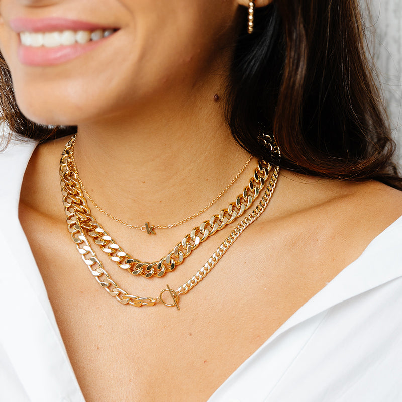 taudrey make a statement thick link chain necklace