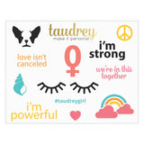 taudrey sticker sheet