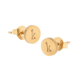 taudrey tell me about it studs personalized circle stud earrings gold