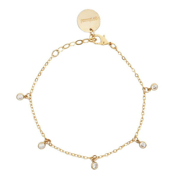 tenley molzahn leopold the bachelor taudrey jewelry collaboration shine collection handcrafted gold bracelet dangling crystal details