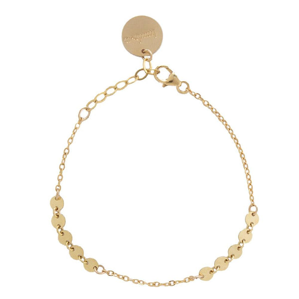tenley molzahn leopold the bachelor taudrey jewelry collaboration shine collection adjustable gold bracelet with rows of mirco disc chain