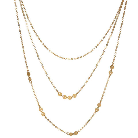 tenley molzahn leopold the bachelor taudrey jewelry collaboration shine collection three layered necklace with mixed gold textures