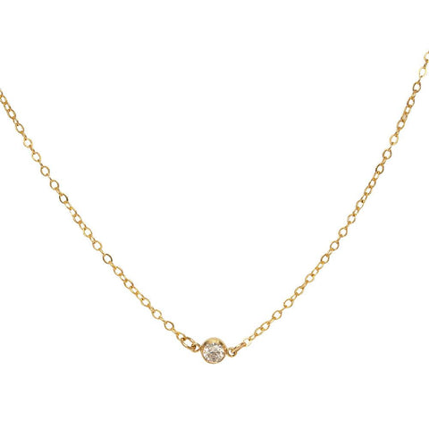 tenley molzahn leopold the bachelor taudrey jewelry collaboration shine collection handcrafted shine necklace gold chain single crystal detail