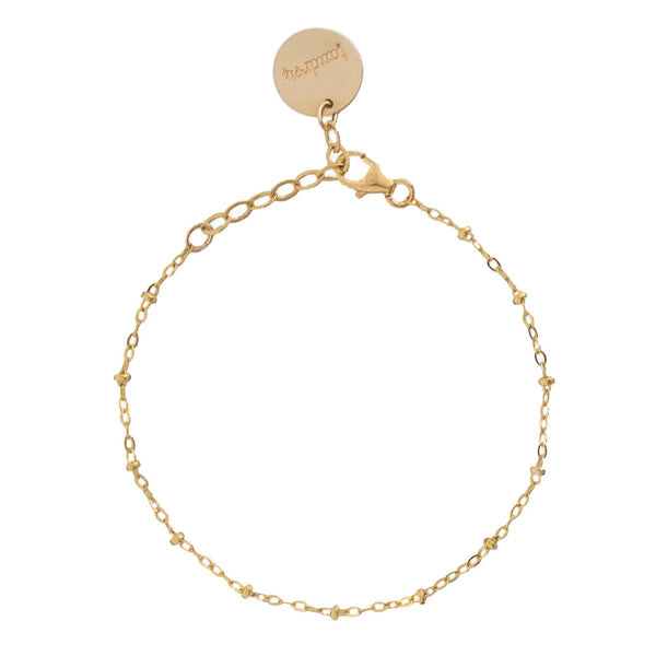 tenley molzahn leopold the bachelor taudrey jewelry collaboration shine collection simplicity anklet adjustable gold anklet detailed with micro gold beads