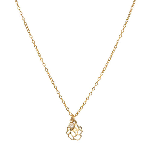 tenley molzahn leopold the bachelor taudrey jewelry collaboration shine collection adjustable gold necklace rose charm hanging crystal detail