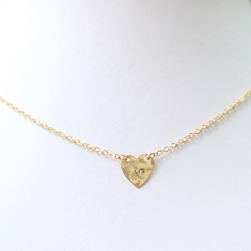 taudrey tenley leopold collab personalized textured heart necklace