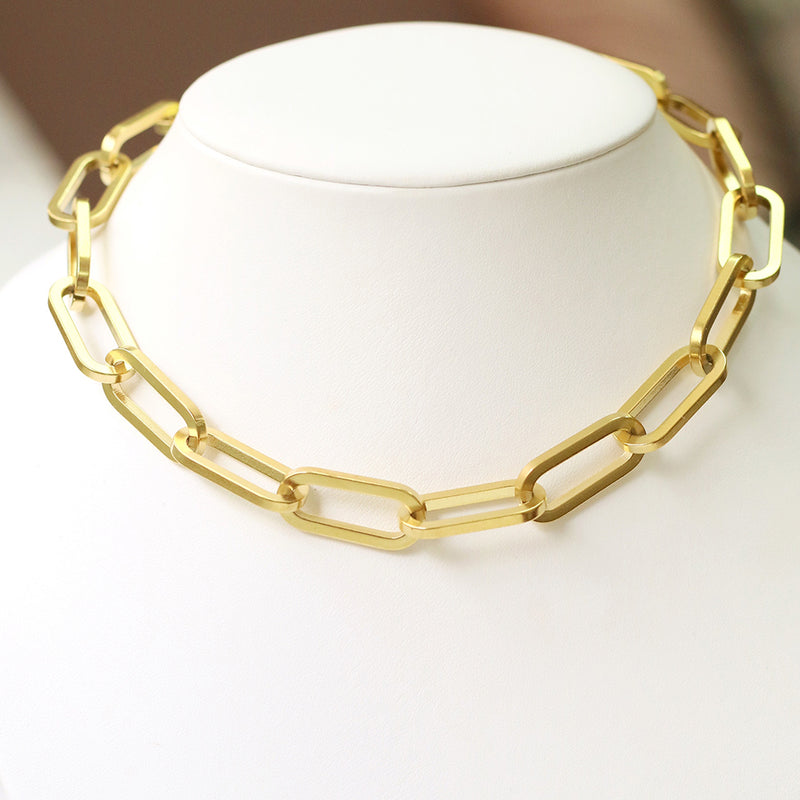 taudrey super girl necklace ultra thick gold chain links
