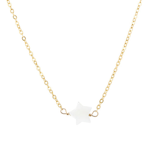 taudrey kids girls twinkle necklace pearl star