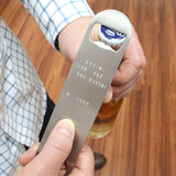 taudrey sterling silver personalized beer bottle opener personalized message fathers day gift idea