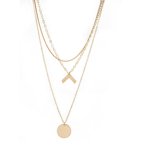 taudrey luli fama collaboration pre layered necklace gold chain inverted v personalized gold charm