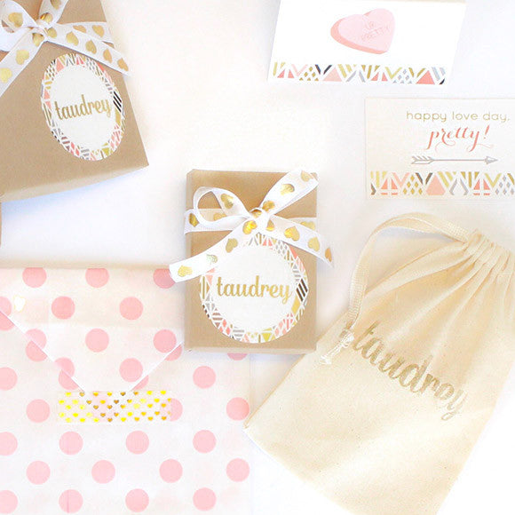 taudrey galentine's gift wrapping love day