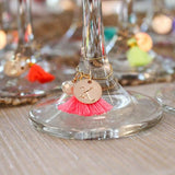 taudrey wine champagne glass tassel charms