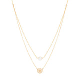 taudrey world is your oyster layered gold necklace with pearl
