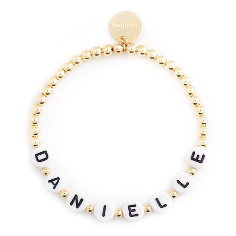 taudrey writers block bracelet letter block personalized gold bracelet