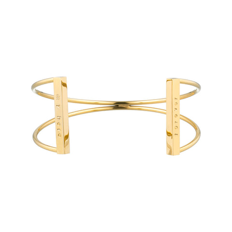 taudrey personalized gold xo criss cross cuff with personalized gold bars