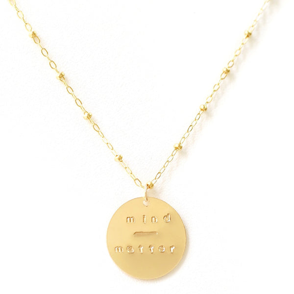 taudrey you can do it necklace mantra necklace mind over matter