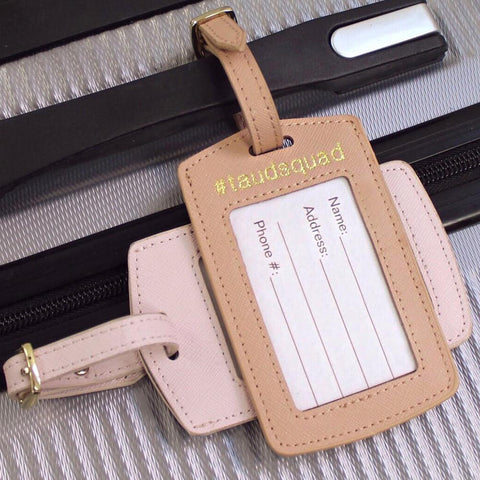 taudrey youre it luggage tag leather embossed personalized