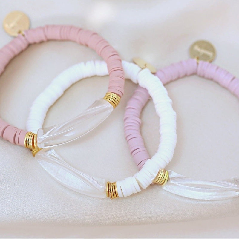 clearly in mauve bracelet