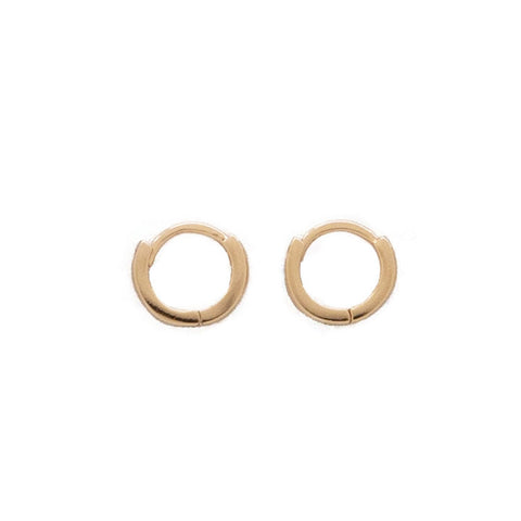 taudrey hugs and kisses rose gold huggie earrings