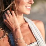tenley molzahn leopold the bachelor taudrey jewelry collaboration shine collection adjustable gold bracelet three crystal details