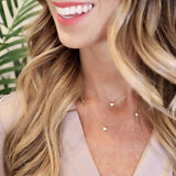 tenley molzahn leopold the bachelor taudrey jewelry collaboration shine collection adjustable gold necklace small heart charm