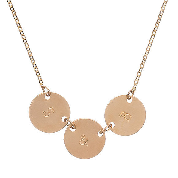 Taudrey Triple Coin Necklace
